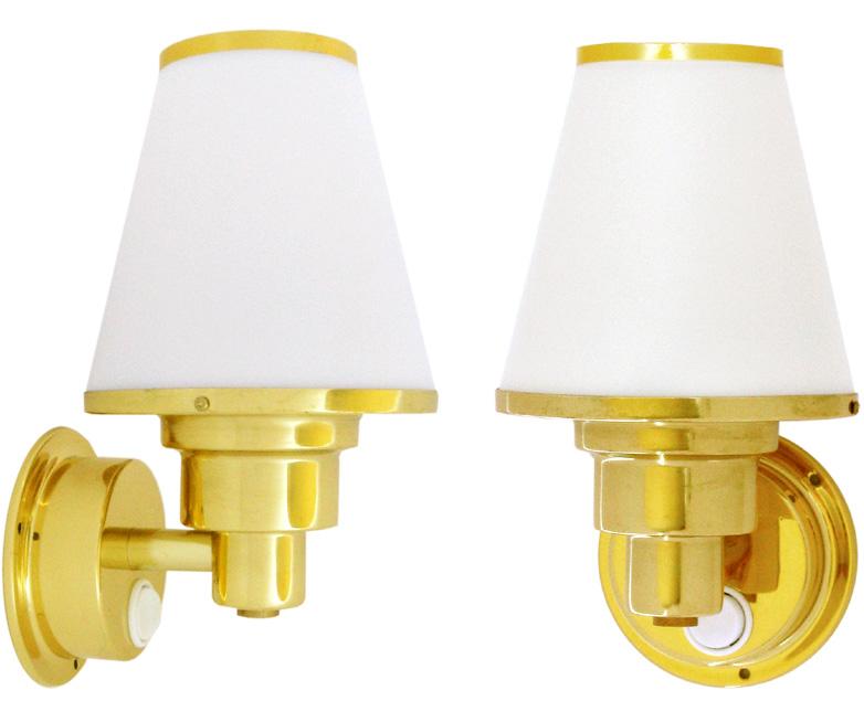 halogen wandlampe messing 75mm 175mm. Black Bedroom Furniture Sets. Home Design Ideas