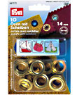 Prym eyelets with washers, 14mm
