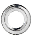 Plain washer, DOT, brass nickel finish, 5,5mm