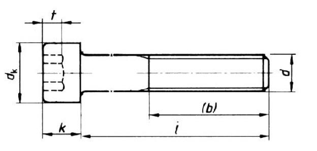Brandneu mit Innensechskant, DIN912, A2, M8x95 OS42