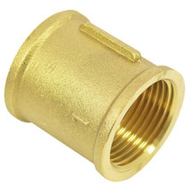"Connector with internal thread  1 1/2"" brass"