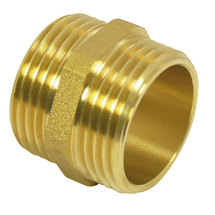 "Double thread with external thread 1 1/2"" brass"