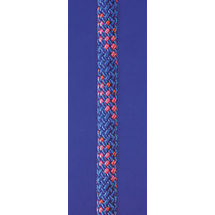 Dyneema halyard rope Super 32, 2times double woven, inlay 100% Dyneema, Seilflechter, blue - pink spots, 14mm, 200m