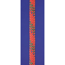 Novoleenhalyard rope Super 32, 2times double woven, inlay 100% Novoleen, Seilflechter, red - green spots, 3mm, 200m