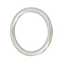 round ring, welded and polished, 8mm, 55mm