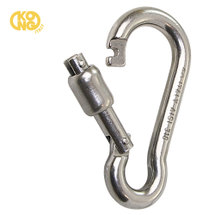Kong carbine hook with spring lock ,80mm, stainless steel, A4