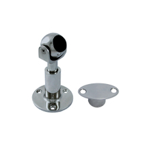 Magnet door holder, swiveling and adjustable in hight, with surface mount plate, 51mm, 115mm, 25mm