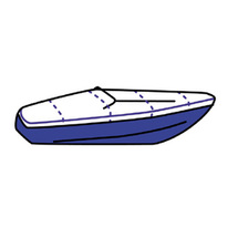 Boat cover for day cruiser, terylene, 700x315cm