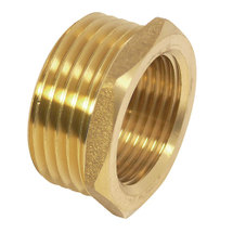 "Reducer with Internal and external thread  3/4 inch, 1 inch"" brass"