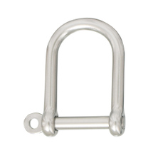 D–shackle, wide shape, stainless steel a4 aisi316, 50x66mm