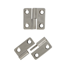 Two part hinge, right, 37x37mm
