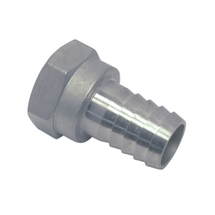 hose connection with internal thread, stainless steel, 3/4 inch, 19mm