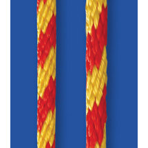 Spiral-throwrope, Seilflechter, yellow with red spots, 8mm, 300m