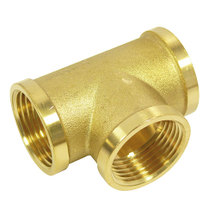 "Tee with internal thread 1/2"" brass"