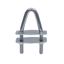 U-bolt with two counter plates - angled head, 18°, 120mm, 40mm