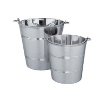 Bucket, mirror polished, stainless steel, 6litres