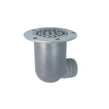 Deck drain scupper with hole connection, 73mm, 50mm