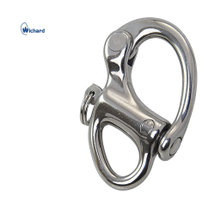 Wichard snap shackle with fixed eye, 70mm stainless steel