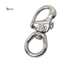 Wichard snap shackle with large bail, 80mm stainless steel