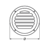 round transom vent , 102mm, stainless steel